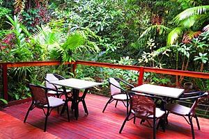 Daintree Rainforest Retreat Dining on deck
