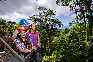 Views from the canapy as far as the Coral Sea - Jungle Surfing Canopy Tours