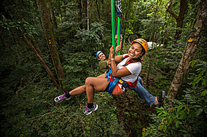 Going up - Jungle Surfing Canopy Tours