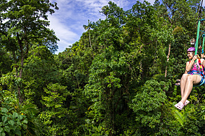 Hanging out in the canopy - Jungle Surfing Canopy Tours