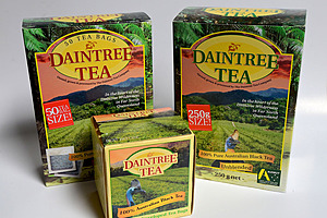 Tea bags and loose tea - assorted packets of Daintree Tea