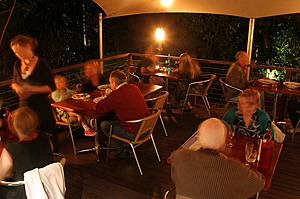 Outdoor deck dining in the rainforest - Whet Cafe Bar Restaurant & Cinema